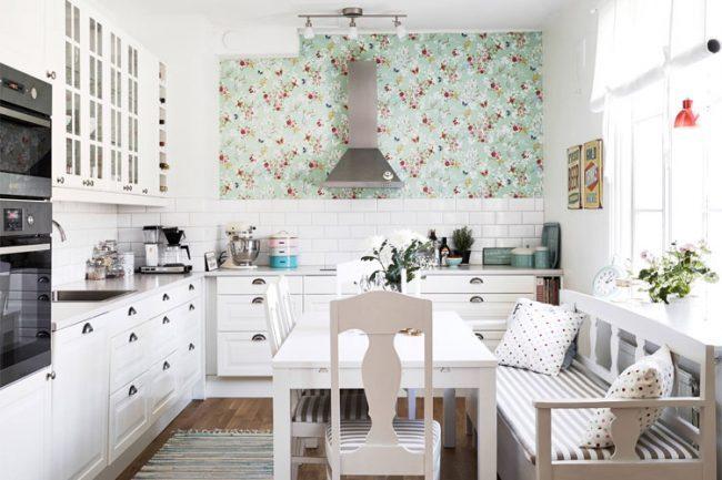 Выбираем обои для кухни: 100 трендовых решений для современных и классических интерьеров