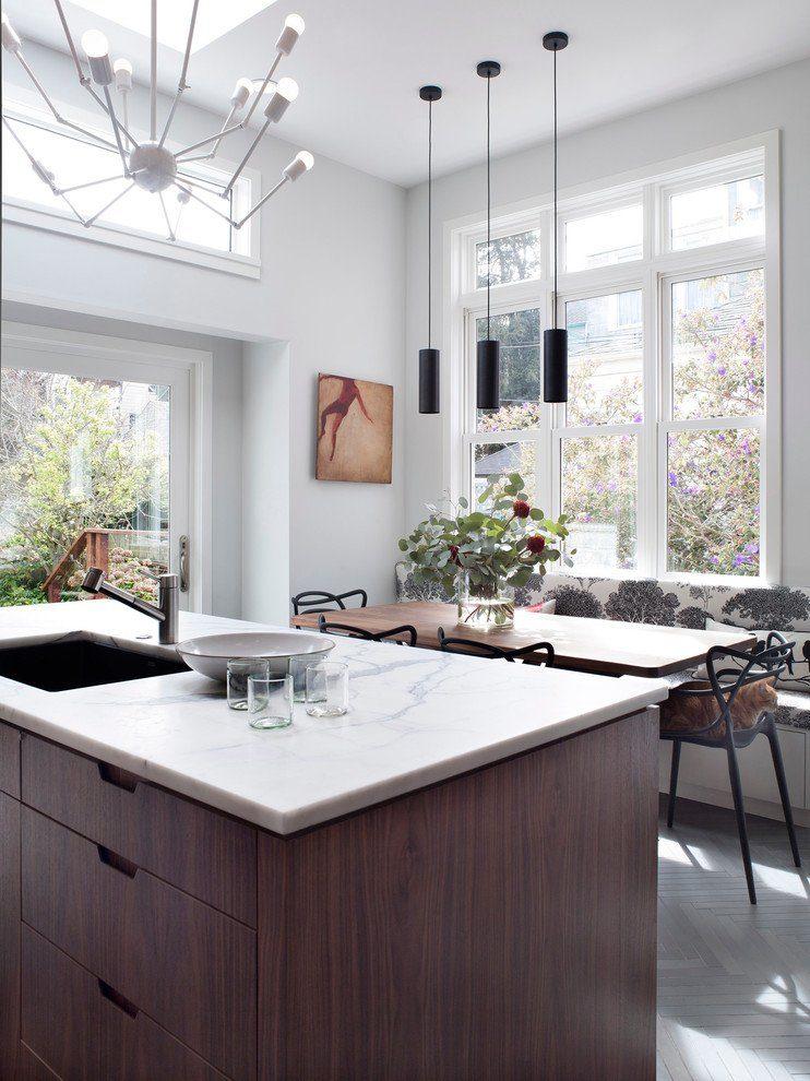 Дизайн кухни вдоль окна (60+ фото и идей планировки): безусловный стиль и эргономика