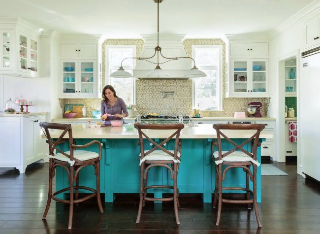 Голубая кухня (100+ фото небесных интерьеров): стильный дизайн для бело-голубых и серо-голубых кухонь