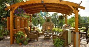 Беседки с печкой, мангалом или барбекю (50 фото) — отличное место для приятного отдыха