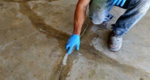 Ремонт трещин, выбоин и других дефектов бетонного пола своими руками