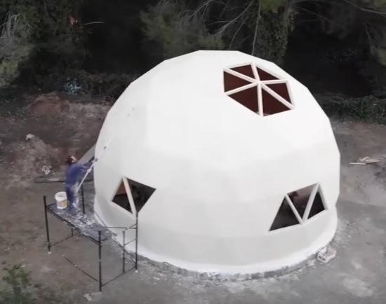 Внешняя отделка купольный дом Domos Cordoba