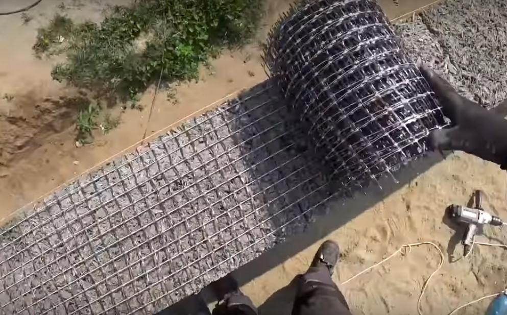 Армирование сеткой